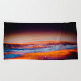 a different view Beach Towel