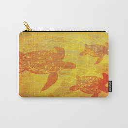 Turtle - Earthy Tones Carry-All Pouch