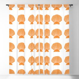 Orange Seashell Blackout Curtain