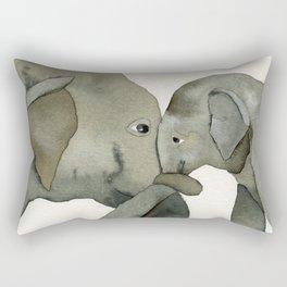 Mom and baby elephant Rectangular Pillow