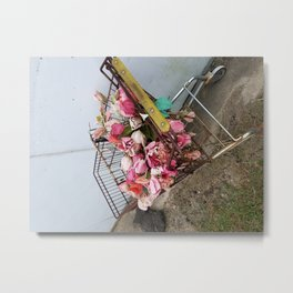 Plastic Flowers Never Die Metal Print