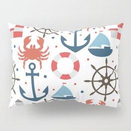 Sea white pattern Pillow Sham
