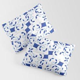 Blue Doodle Pillow Sham