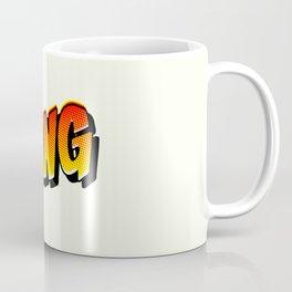 halftone comic book sound effect in pop art style Coffee Mug