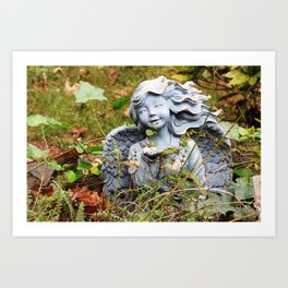 Yard Angel Art Print