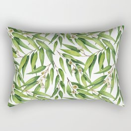 Exotic greenery pattern Rectangular Pillow