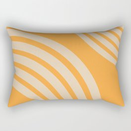 yellow geometric arches art print - Mid century modern, mid century wall art, mid century art, mid c Rectangular Pillow