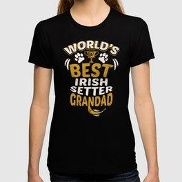 World's Best Irish Setter Grandad T-shirt