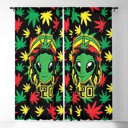 Rasta 420 Alien Blackout Curtain