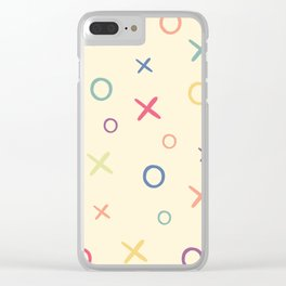 Noughts and crosses Clear iPhone Case