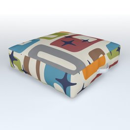 Retro Mid Century Modern Abstract Pattern 224 Outdoor Floor Cushion