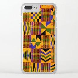 Kente Clear iPhone Case
