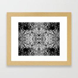 Black & White Crystal Cavern Framed Art Print