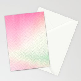 Abstract modern blush pink green watercolor paint Stationery Cards