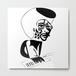 Herbie Hancock Sketch Metal Print