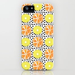 Painted Kiwis and Oranges iPhone Case