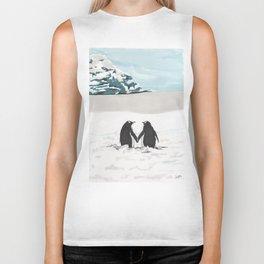Penguins in love Biker Tank