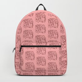 Abstract Geometry Rose Background Pattern Backpack