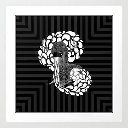 Gray Stone Monster: Transir Art Print