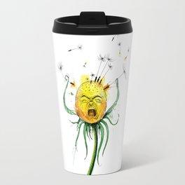 Angry Flower Whimsical Art Travel Mug