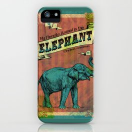 My Favorite Elephant iPhone Case