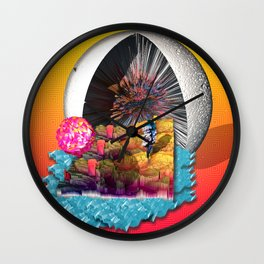 Low-Poly Paradise Wall Clock