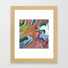 Melting Rainbow I Framed Art Print