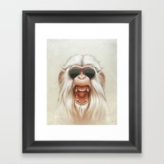 The Great White Angry Monkey Framed Art Print