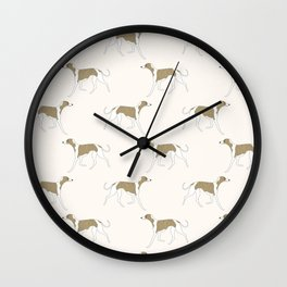 The Walking Whippet Wall Clock