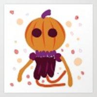 Pumpkin Spirit Art Print