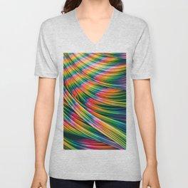 Strain Wave III. Tie-Dye Unisex V-Neck