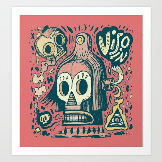 Vision étrange Art Print