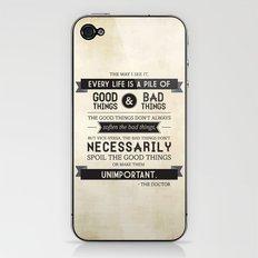 Good Things & Bad Things iPhone & iPod Skin