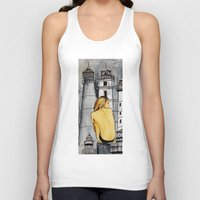 lighthouse Tank Tops featuring lighthouse by The Traveling Catburys