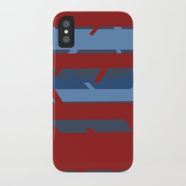 Trees - Red/Blue iPhone Case
