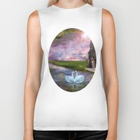 river song Biker Tanks featuring Moon River by Susie Hawkins