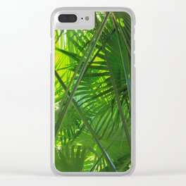 Sunny Tropical Palms 2 Clear iPhone Case