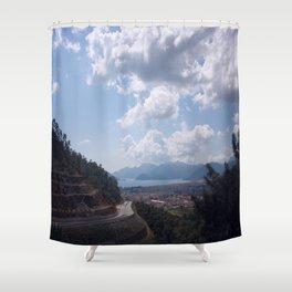 Descent Into Marmaris Shower Curtain