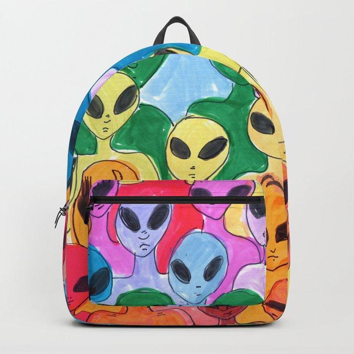 alien rainbow Backpack