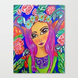 fiesta tropical Canvas Print
