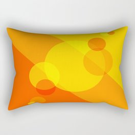 Orange Spheres Abstract Rectangular Pillow