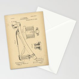 1890 Patent Bicycle saddle Stationery Cards