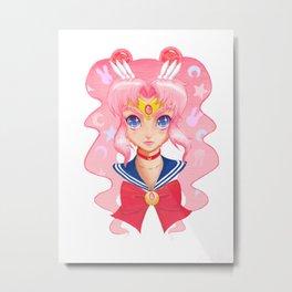 Cosmic Bunny - Color (Sailor Moon) Metal Print