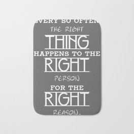 The Right Thing Bath Mat