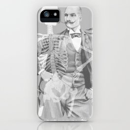 Crown Pursuit -- Black and White Variant iPhone Case