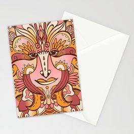 Flower spirit / Brown, orange pallete Stationery Cards