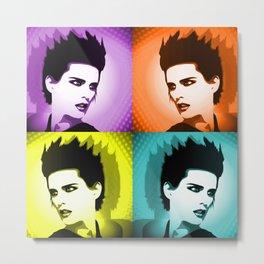 Colorful popart woman portrait Metal Print