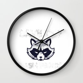 Raccoon Save Trash Pandas Coon Woodchuck Coon Gift Wall Clock