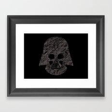 Lines of Vader Framed Art Print
