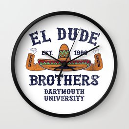 Peep Show - El Dude Brothers Wall Clock